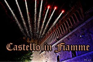 castello in fiamme