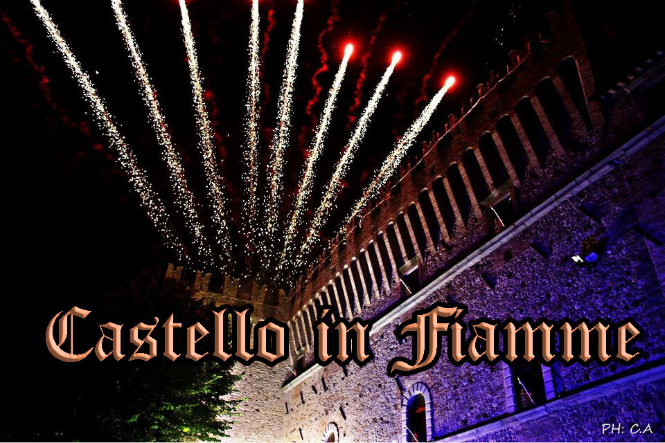 castello in fiamme